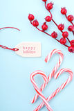 Red, white and pale blue Christmas background. Royalty Free Stock Image