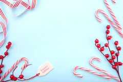 Red, white and pale blue Christmas background. Stock Photography