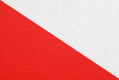 Red and white paper Stock Image
