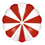 Red and White Parachute. Red and white open parachute Stock Photos