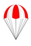 Red and White parachute Royalty Free Stock Image