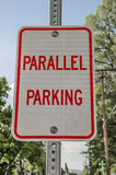 Parallel Parking Sign royalty free stock image