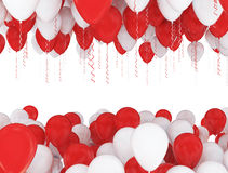 Red and white party balloons Stock Images
