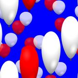 Red and white party balloons Royalty Free Stock Photography