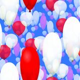 Red white party balloons seamless pattern Stock Image
