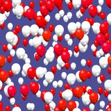 Red white party balloons Royalty Free Stock Photography