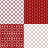 Red and white patterns Royalty Free Stock Image