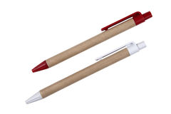Red and white pencil Stock Photo