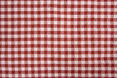 Red and White Picnic Blanket. Red and White Checkered Picnic Blanket Detail Stock Photography