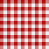 Red and White Picnic Tablecloth. Red and white picnic table cloth pattern illustration that tiles seamlessly as a pattern Royalty Free Stock Photography