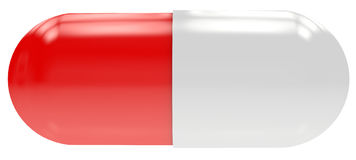 Red-White pill Stock Photography