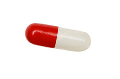 Red and white pill Stock Photography