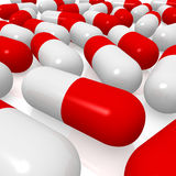 Red and white pills Royalty Free Stock Photo
