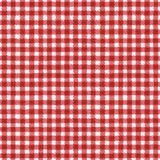 Red and white plaid background. Red and white grunge gingham plaid ripply abstract geometric seamless pattern background. Hand drawn seamless texture. Wallpaper Royalty Free Stock Photo
