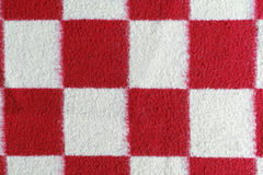 Red and white plaid blanket Stock Photography