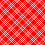 Red White Plaid Diagonal Royalty Free Stock Images
