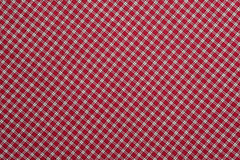 Red and White Plaid Stock Photography
