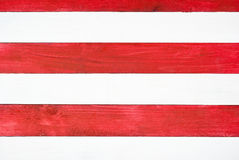 Red and white planks Stock Photos