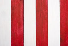 Red and white planks Stock Image