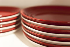 Red and white plates Royalty Free Stock Photography
