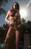 Red White Polka Dot Bikini Royalty Free Stock Photos