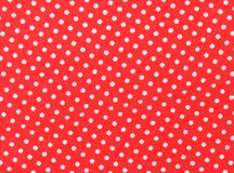 Red and white polka dot fabric Stock Photo
