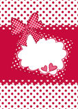 Red and white polka dot gift card Royalty Free Stock Photo