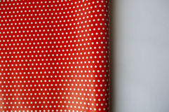Red and white polka dots wrapping paper Royalty Free Stock Photos