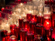 Prayer Candles Royalty Free Stock Photography