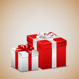 Red and white present Royalty Free Stock Images