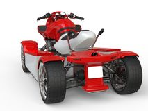 Red and white quad bike Royalty Free Stock Images