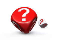 Red and white question mark dices Royalty Free Stock Images