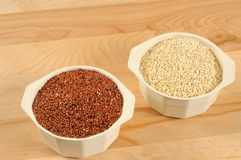 Red and white quinoa Stock Photos