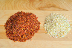 Red and white quinoa Stock Photo