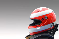 Car racing helmet Royalty Free Stock Images