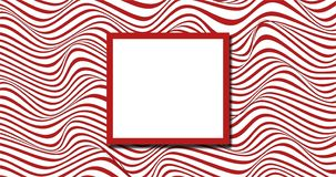 Red and white random wavy background stock illustration