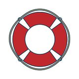 Red and white rescue wheel Royalty Free Stock Images