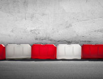 Red and white road barrier Stock Image