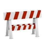 Red White Roadblock Stock Image
