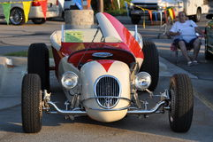 Red and White Roadster Royalty Free Stock Image
