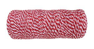Red and white rope for wrapping package and post boxes isolated on white background, path Stock Images