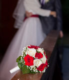 Red and white rose bridal bouquet Royalty Free Stock Photography