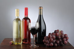 Red, white and rose wine Stock Images