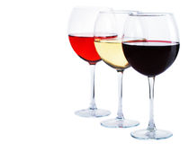 Red, white and rose wine Royalty Free Stock Image