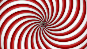 Red and white rotating hypnosis spiral Royalty Free Stock Photography