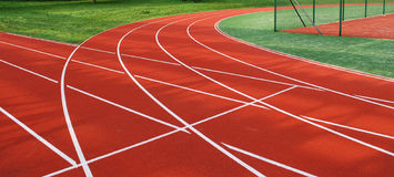 Red, White Running Track Royalty Free Stock Photos