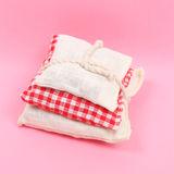 Red and white sachet Royalty Free Stock Photography