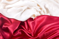Red and white satin Royalty Free Stock Photo