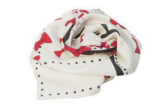 Red and white scarf Royalty Free Stock Images