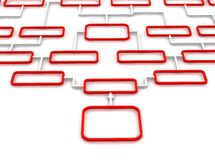 Red and white schematic diagram Stock Images